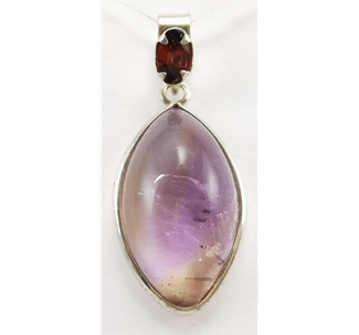 Ametrine and Garnet Pendant (02)