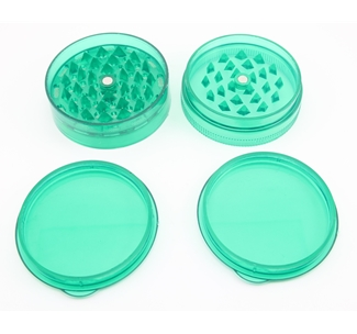 Small Green Plastic Grinder (06)